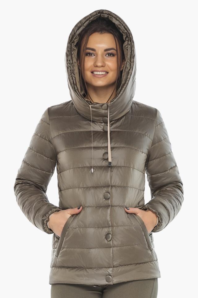 """Жіноча куртка на блискавці осінньо-весняна капучинова модель 61030 Braggart """"Angel's Fluff"""" фото 4"""