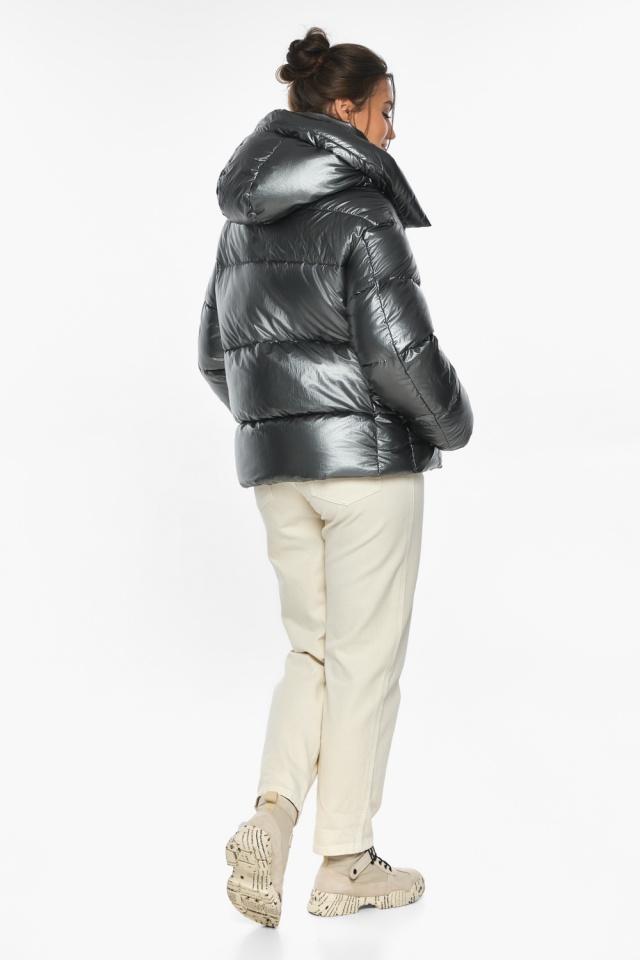 """Куртка женская зимняя фирменная цвет темное серебро модель 44210 Braggart """"Angel's Fluff"""" фото 5"""