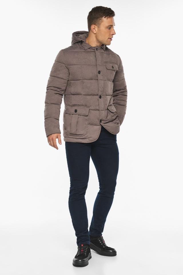"""Куртка – воздуховик на зиму мужской ореховый модель 35230 Braggart """"Angel's Fluff Man"""" фото 2"""