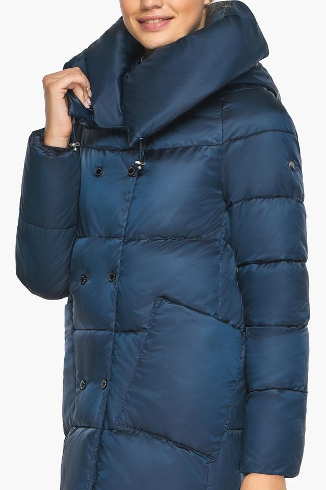 """Куртка сапфировая женская с воротником модель 46150 Braggart """"Angel's Fluff"""" фото 9"""