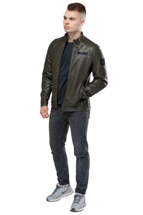 "Осенне-весенняя куртка мужская короткая цвета хаки модель 25825 Braggart ""Youth"" фото 1"