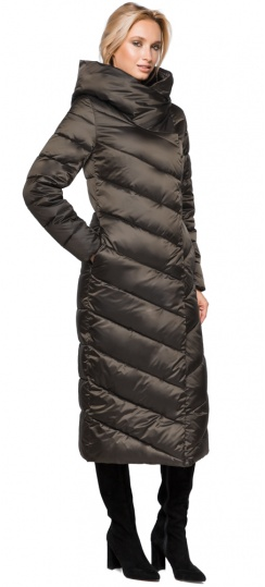 """Трендовая куртка женская цвет капучино модель 31016 Braggart """"Angel's Fluff"""" фото 1"""
