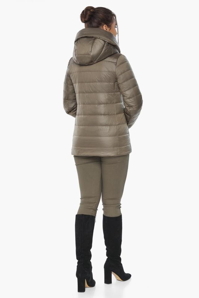 """Жіноча куртка на блискавці осінньо-весняна капучинова модель 61030 Braggart """"Angel's Fluff"""" фото 6"""