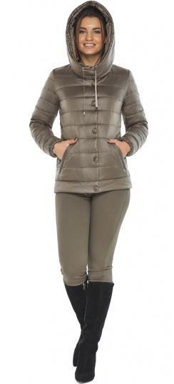 """Женская куртка на молнии осенне-весенняя капучиновая модель 61030 Braggart """"Angel's Fluff"""" фото 1"""