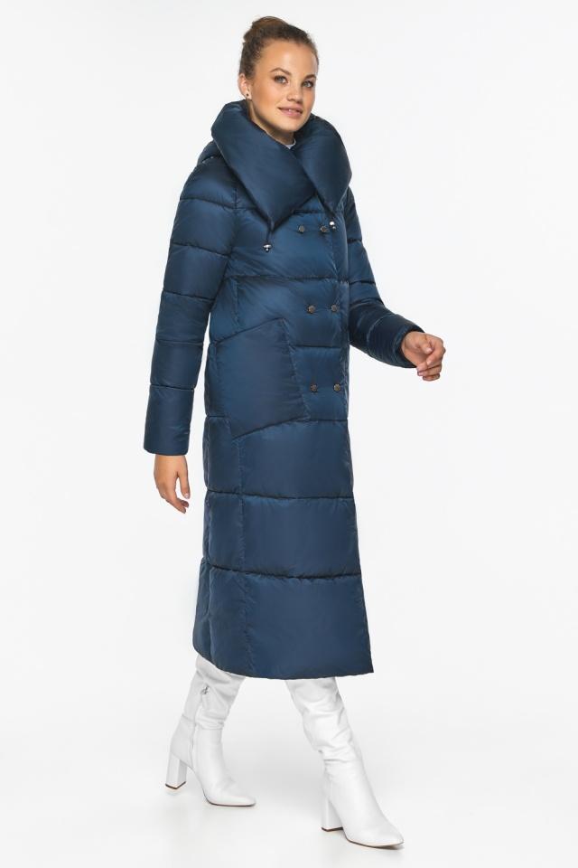 """Куртка сапфировая женская с воротником модель 46150 Braggart """"Angel's Fluff"""" фото 5"""