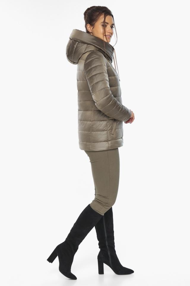 """Жіноча куртка на блискавці осінньо-весняна капучинова модель 61030 Braggart """"Angel's Fluff"""" фото 5"""