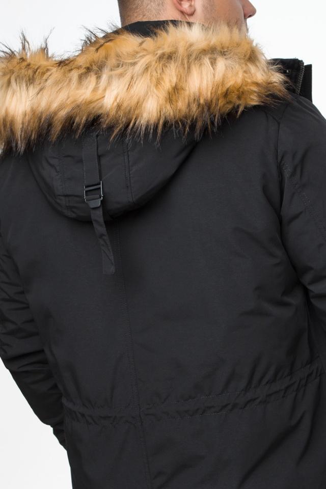 """Короткая черная парка мужская зимняя модель 25770 Braggart """"Youth"""" фото 10"""