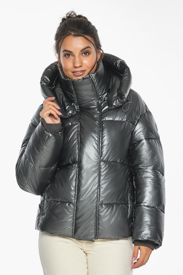 """Куртка женская зимняя фирменная цвет темное серебро модель 44210 Braggart """"Angel's Fluff"""" фото 4"""