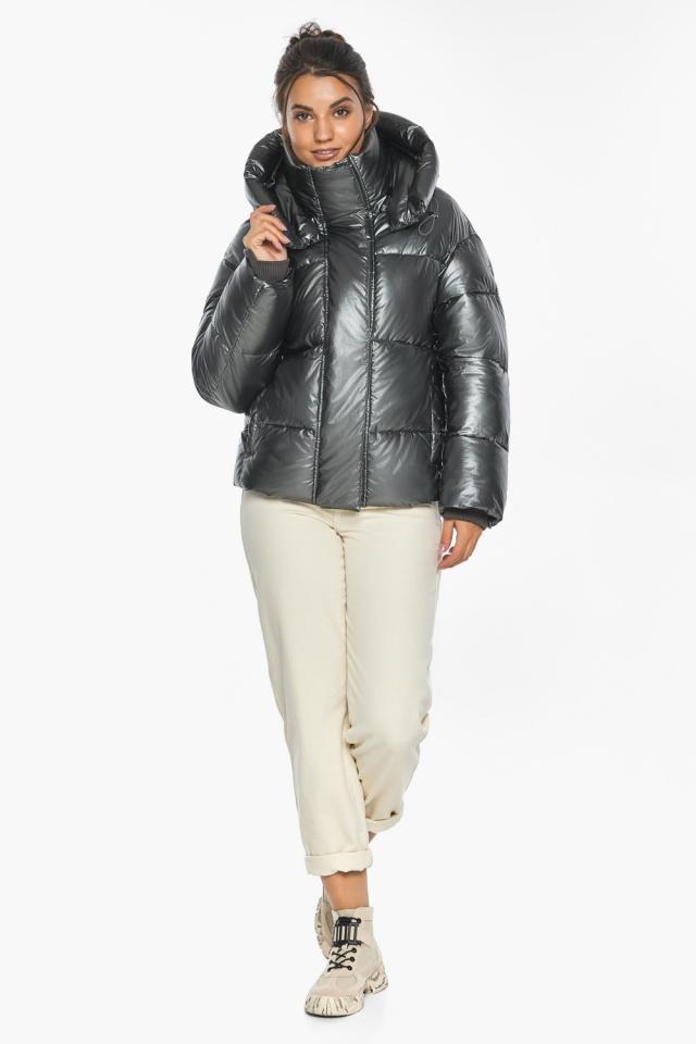 """Куртка женская зимняя фирменная цвет темное серебро модель 44210 Braggart """"Angel's Fluff"""" фото 2"""