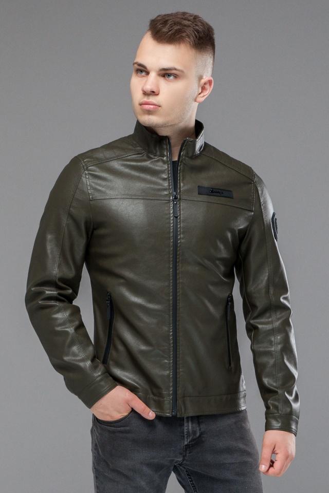 "Осенне-весенняя куртка мужская короткая цвета хаки модель 25825 Braggart ""Youth"" фото 3"