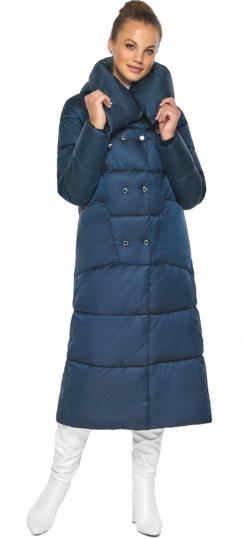"""Куртка сапфировая женская с воротником модель 46150 Braggart """"Angel's Fluff"""" фото 1"""