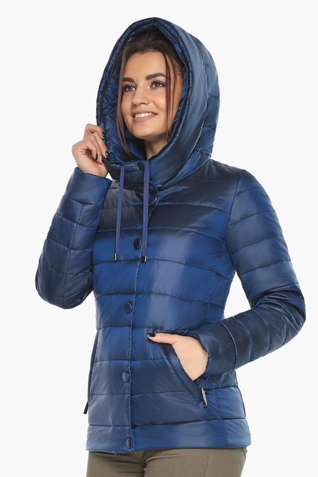"""Женская куртка оригинальная осенне-весенняя цвет сапфировый модель 61030 Braggart """"Angel's Fluff"""" фото 3"""