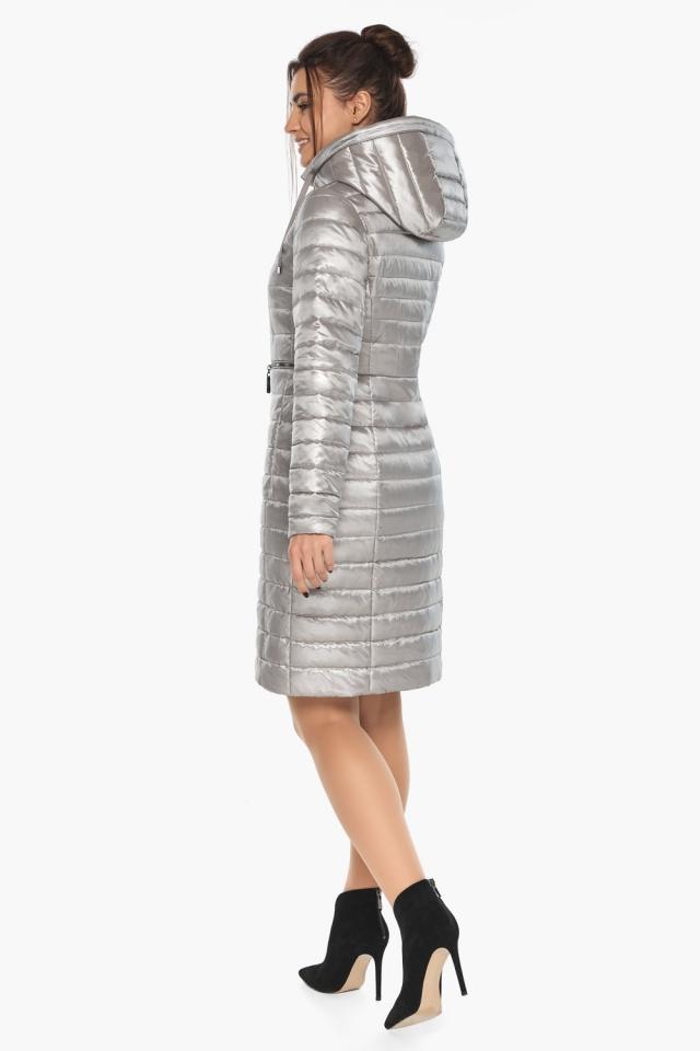 """Куртка осенняя практичная женская цвет перламутровый светло-серый модель 68410 Braggart """"Angel's Fluff"""" фото 7"""