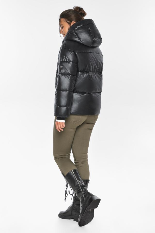 """Куртка черная зимняя женская с капюшоном модель 44520 Braggart """"Angel's Fluff"""" фото 5"""