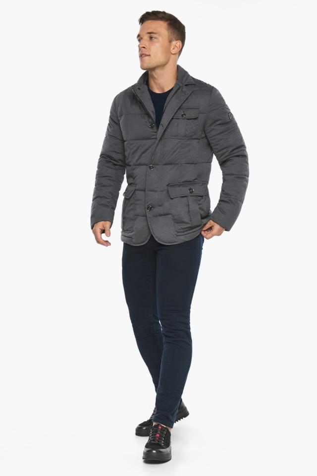 """Куртка – воздуховик короткий мужской зимний цвет мокрый асфальт модель 35230 Braggart """"Angel's Fluff Man"""" фото 4"""