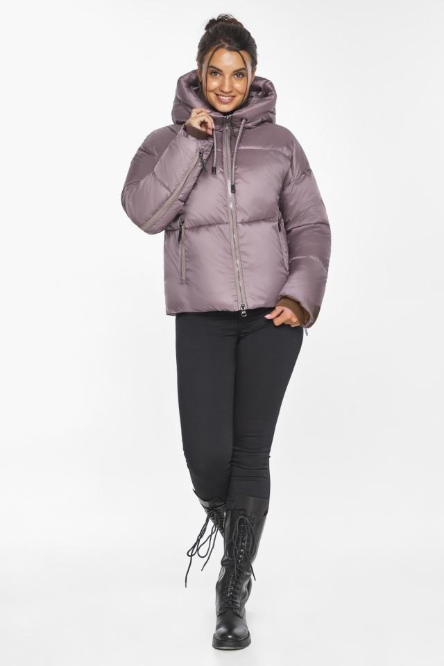 """Пудровая куртка женская с карманами модель 46280 Braggart """"Angel's Fluff"""" фото 6"""