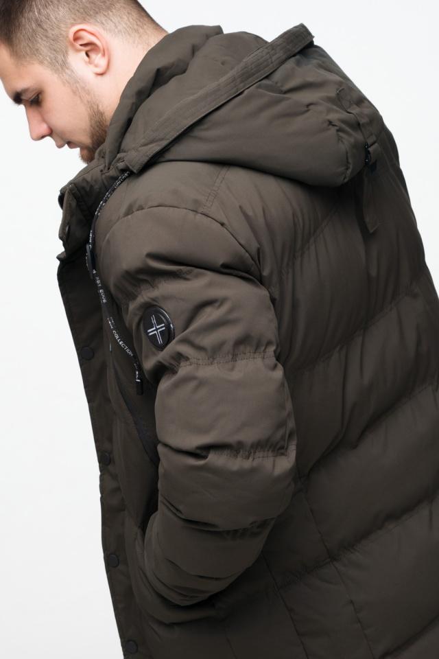 """Зимняя куртка мужская трендовая цвета кофе модель 25320 Braggart """"Youth"""" фото 10"""