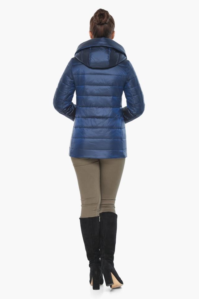 """Женская куртка оригинальная осенне-весенняя цвет сапфировый модель 61030 Braggart """"Angel's Fluff"""" фото 5"""