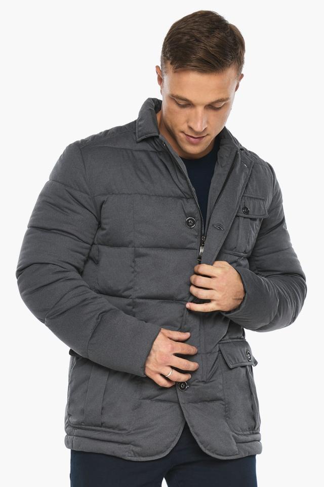 """Куртка – воздуховик короткий мужской зимний цвет мокрый асфальт модель 35230 Braggart """"Angel's Fluff Man"""" фото 3"""