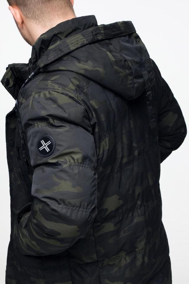 "Мужская темно-зеленая куртка с карманами зимняя модель 25140 Braggart ""Youth"" фото 10"