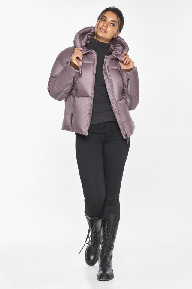 """Пудровая куртка женская с карманами модель 46280 Braggart """"Angel's Fluff"""" фото 2"""