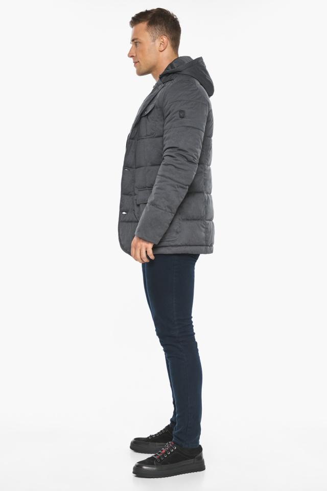 """Куртка – воздуховик короткий мужской зимний цвет мокрый асфальт модель 35230 Braggart """"Angel's Fluff Man"""" фото 8"""