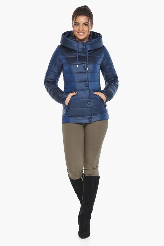 """Женская куртка оригинальная осенне-весенняя цвет сапфировый модель 61030 Braggart """"Angel's Fluff"""" фото 2"""