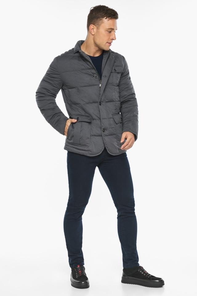"""Куртка – воздуховик короткий мужской зимний цвет мокрый асфальт модель 35230 Braggart """"Angel's Fluff Man"""" фото 6"""