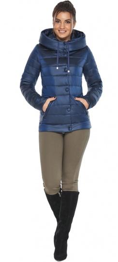 """Женская куртка оригинальная осенне-весенняя цвет сапфировый модель 61030 Braggart """"Angel's Fluff"""" фото 1"""