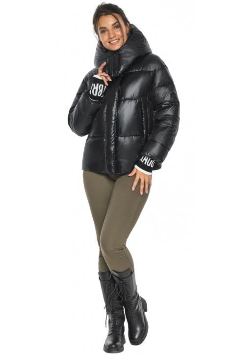 "Куртка чорна зимова жіноча з капюшоном модель 44520 Braggart ""Angel's Fluff"" фото 1"