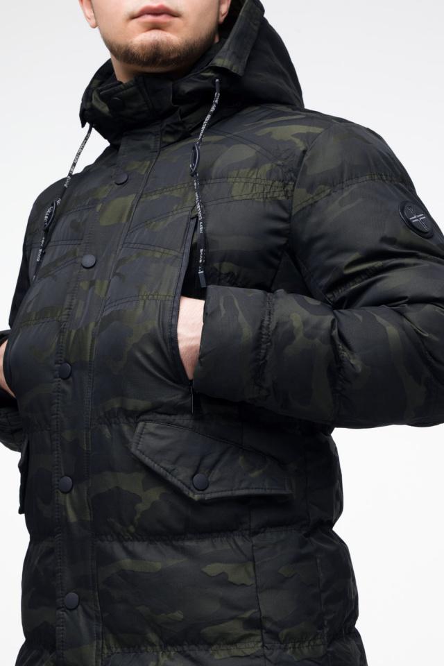 "Мужская темно-зеленая куртка с карманами зимняя модель 25140 Braggart ""Youth"" фото 8"