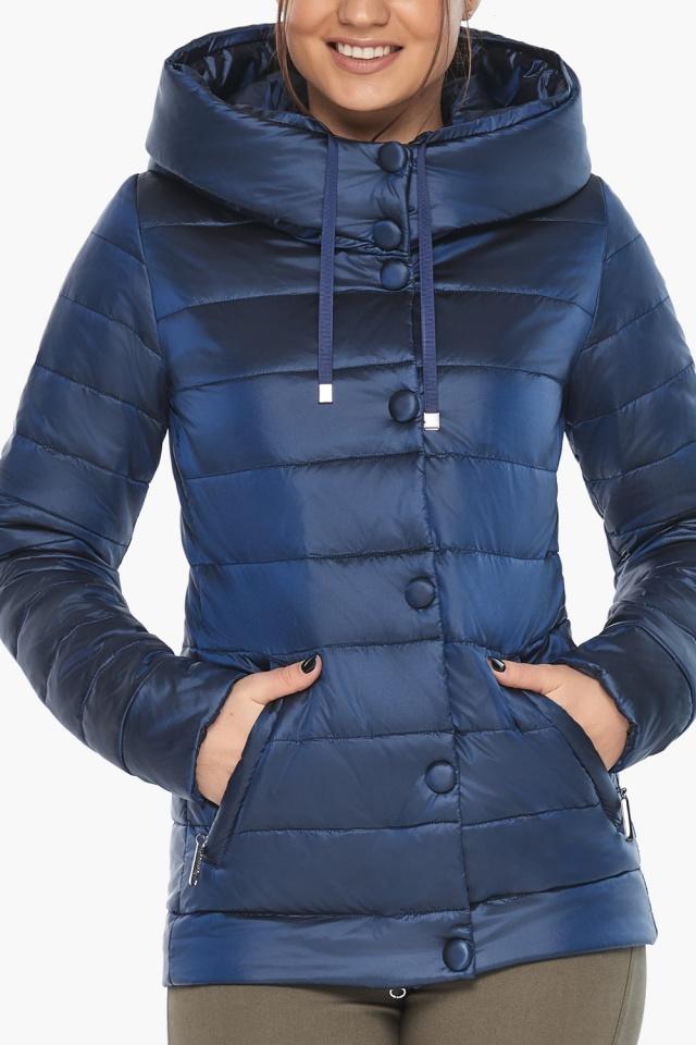 """Женская куртка оригинальная осенне-весенняя цвет сапфировый модель 61030 Braggart """"Angel's Fluff"""" фото 6"""