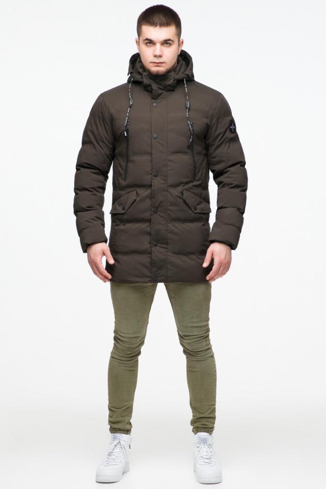 """Зимняя куртка мужская трендовая цвета кофе модель 25320 Braggart """"Youth"""" фото 2"""
