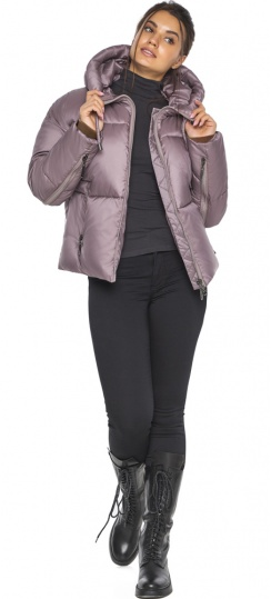 """Пудровая куртка женская с карманами модель 46280 Braggart """"Angel's Fluff"""" фото 1"""