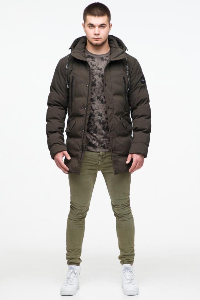 """Зимняя куртка мужская трендовая цвета кофе модель 25320 Braggart """"Youth"""" фото 3"""