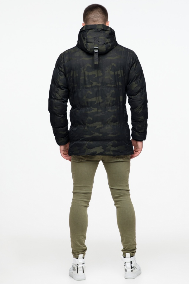 "Мужская темно-зеленая куртка с карманами зимняя модель 25140 Braggart ""Youth"" фото 7"