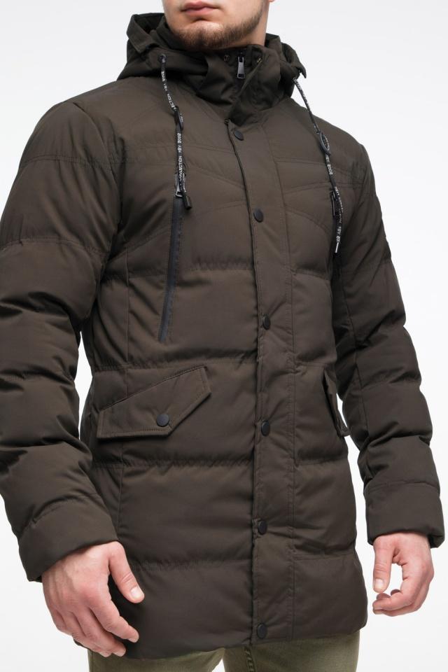 """Зимняя куртка мужская трендовая цвета кофе модель 25320 Braggart """"Youth"""" фото 9"""