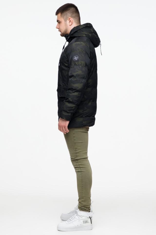 "Мужская темно-зеленая куртка с карманами зимняя модель 25140 Braggart ""Youth"" фото 5"