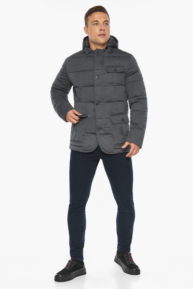 """Куртка – воздуховик короткий мужской зимний цвет мокрый асфальт модель 35230 Braggart """"Angel's Fluff Man"""" фото 2"""