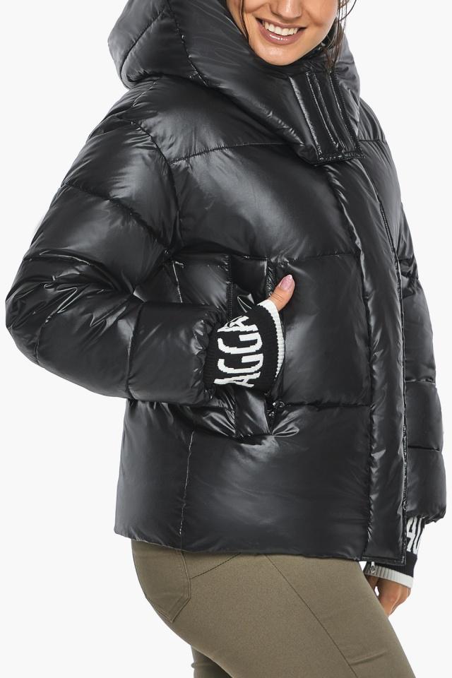 """Куртка черная зимняя женская с капюшоном модель 44520 Braggart """"Angel's Fluff"""" фото 6"""