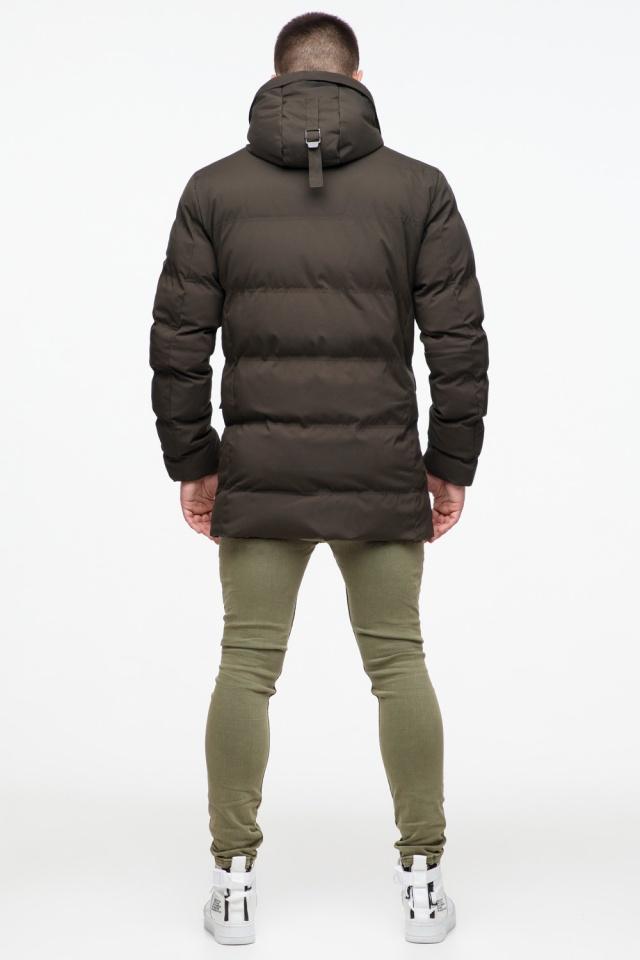 """Зимняя куртка мужская трендовая цвета кофе модель 25320 Braggart """"Youth"""" фото 7"""