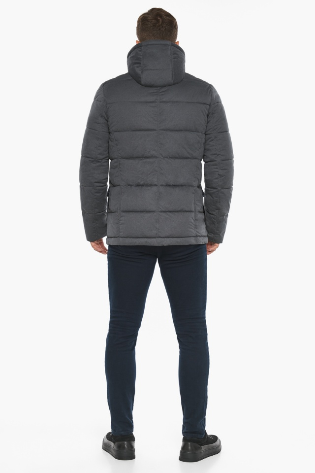 """Куртка – воздуховик короткий мужской зимний цвет мокрый асфальт модель 35230 Braggart """"Angel's Fluff Man"""" фото 9"""