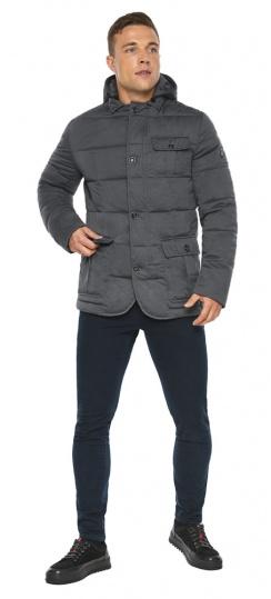 """Куртка – воздуховик короткий мужской зимний цвет мокрый асфальт модель 35230 Braggart """"Angel's Fluff Man"""" фото 1"""