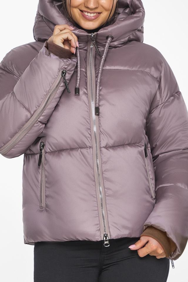 """Пудровая куртка женская с карманами модель 46280 Braggart """"Angel's Fluff"""" фото 9"""