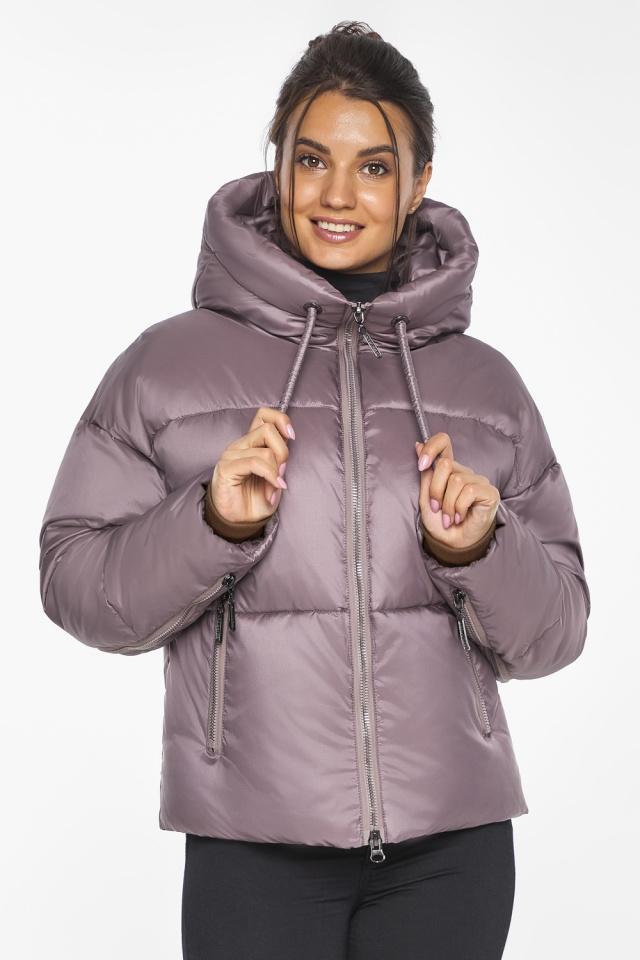 """Пудровая куртка женская с карманами модель 46280 Braggart """"Angel's Fluff"""" фото 3"""