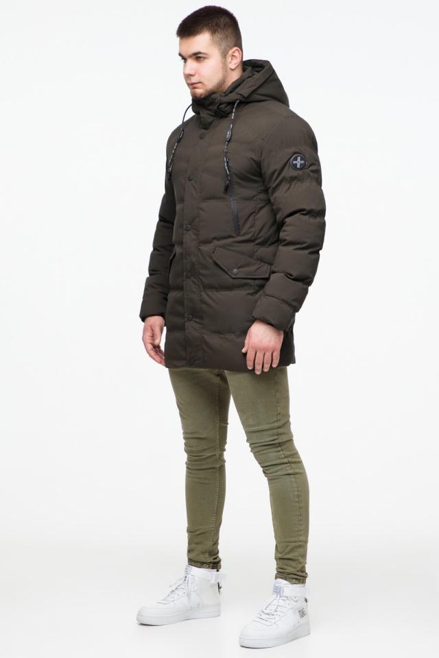"""Зимняя куртка мужская трендовая цвета кофе модель 25320 Braggart """"Youth"""" фото 4"""