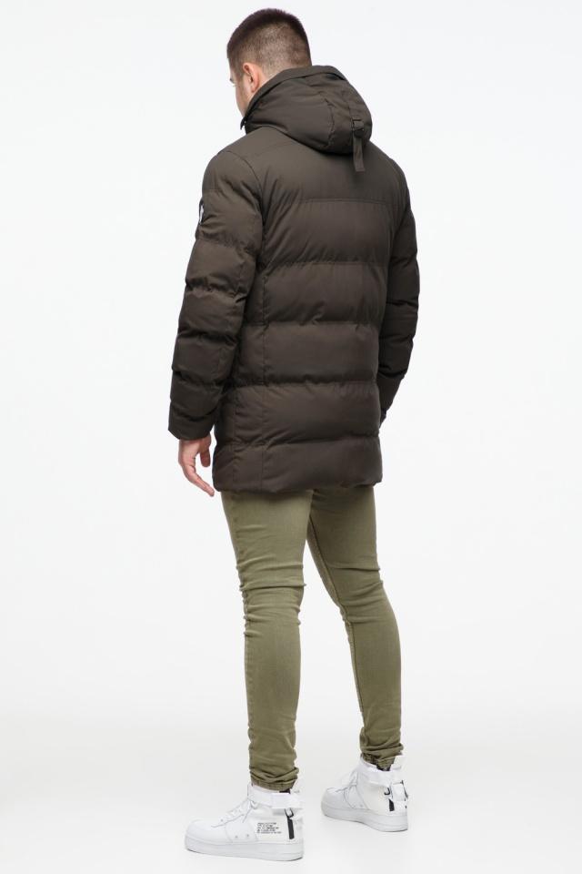 """Зимняя куртка мужская трендовая цвета кофе модель 25320 Braggart """"Youth"""" фото 6"""