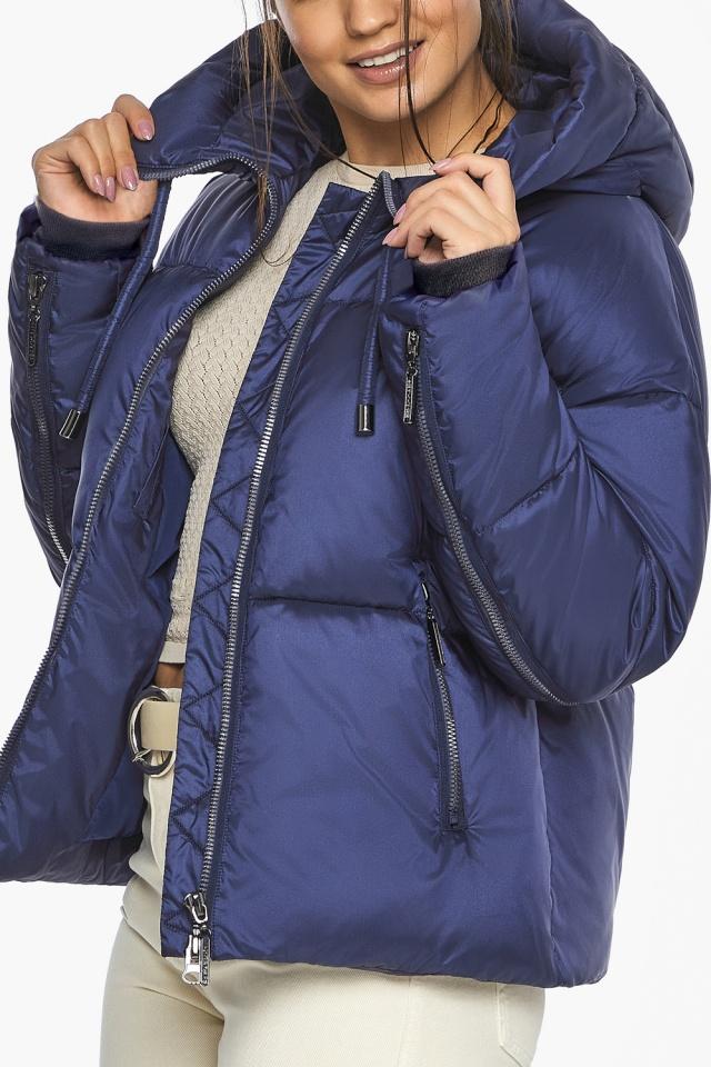 """Куртка на змейке женская цвет синий бархат модель 46280 Braggart """"Angel's Fluff"""" фото 9"""