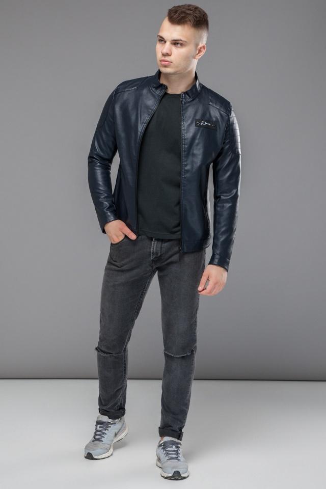 """Темно-синяя куртка короткая осенне-весенняя для мужчин модель 36361 Braggart """"Youth"""" фото 3"""