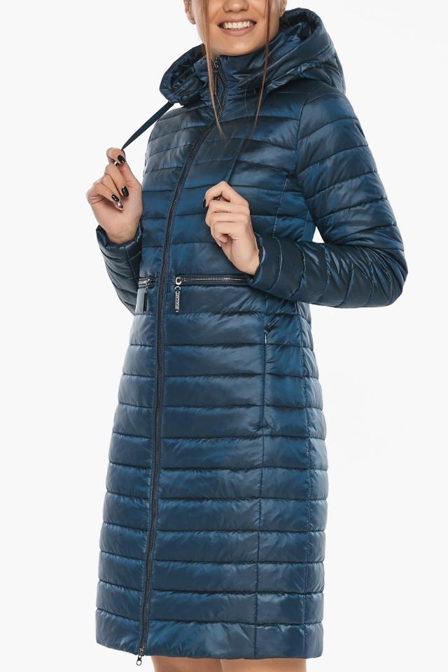 """Удобная женская куртка осенне-весенняя цвет тёмная лазурь модель 68410 Braggart """"Angel's Fluff"""" фото 7"""